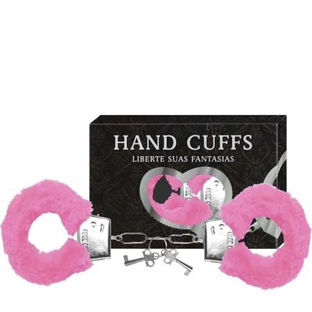 Algema Com Pelucia Hand Cuffs (AL001 - ST192) - Rosa