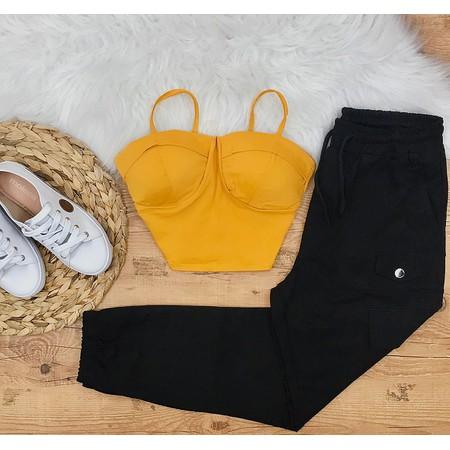 Cropped Amarelo de Alcinha