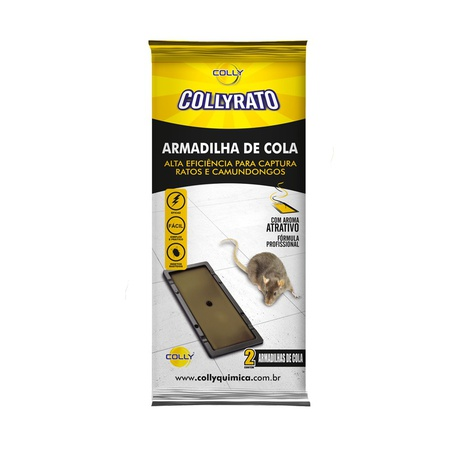 Armadilha adesiva sem veneno para rato - Colly - AGROCAC