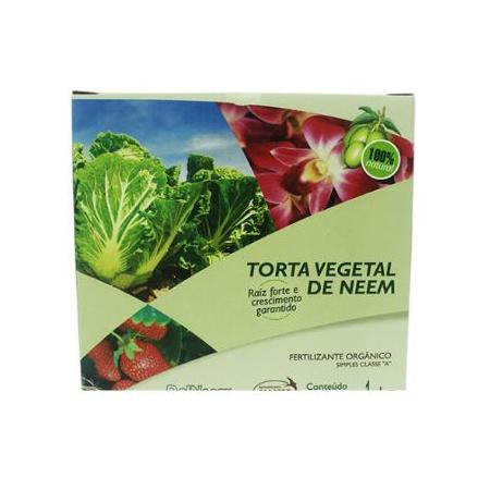 Torta Vegetal de Neem 1kg DalNeem - AGROCAC