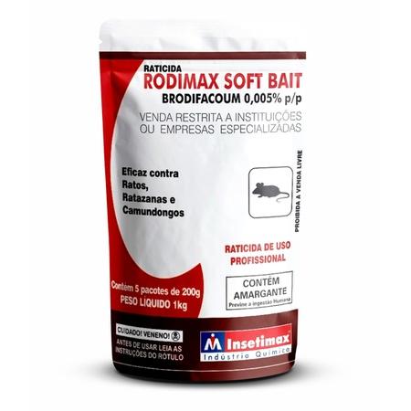 Raticida Rodimax Soft Bait 200g - Insetimax - AGROCAC