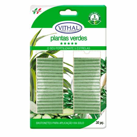 Fertilizante Bastonetes Plantas Verdes - Vithal - AGROCAC