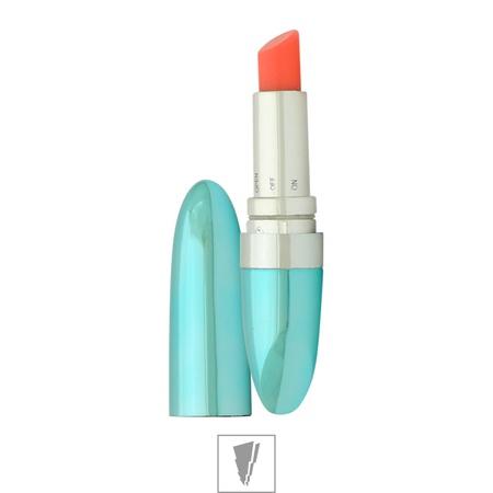 **Vibrador Formato De Batom Sexy Toys (MBA1301) - Azul Metálico
