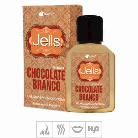 Gel Comestível Jells Hot 30ml (ST106) - Chocolate Branco