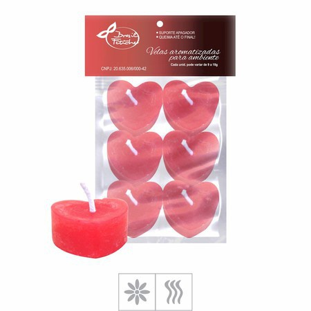 Velas Aromatizadas 6un - ( ST146 ) - Formato Coração