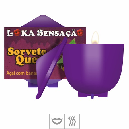 Vela Beijável Sorvete Quente 30g (ST148) - Açaí c/ Banana