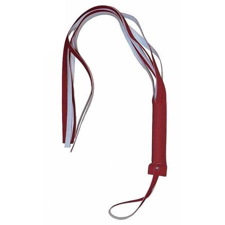 Chicote Reforçado 6 Tiras Brasil Fetiche 80cm (ST537) - Vermelho