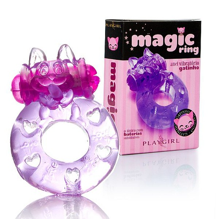 Anel Peniano Magic Ring Com Vibro (ST343) - (EVA311) Gatinho