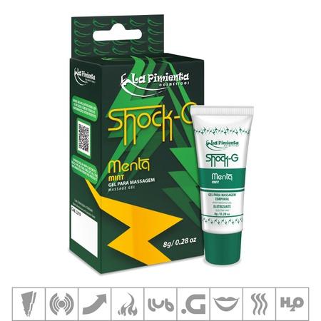 Excitante Unissex Shock-G Bisnaga 8g (ST734) - Menta