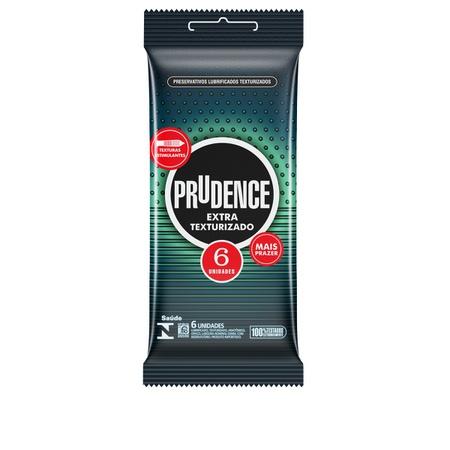 Preservativo Prudence Extra Texturizado 6un (17026) - Padrão
