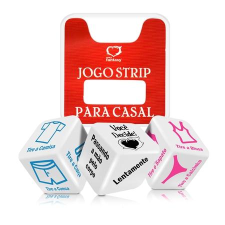 Dado Triplo Jogo Strip Para Casal (BR009) - Padrão