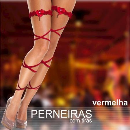 Perneira Com 2 Tiras (PS1007) - Vermelho