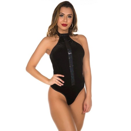 *Body De Veludo (PS8323) - Preto