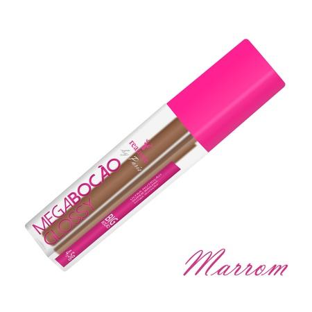 Batom Líquido Matte Megabocão (SL455) - Marrom