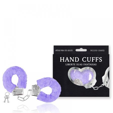 Algema Com Pelucia Hand Cuffs (AL001-ST192) - Lilás