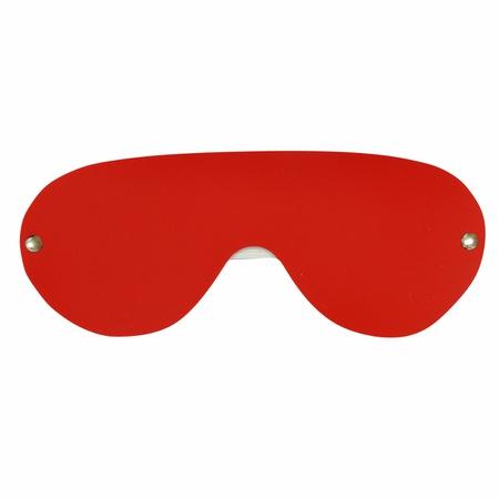 Tapa Olhos em Couro Sintético Brasil Fetiche (ST523) - Vermelho