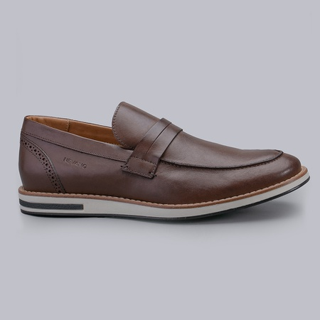 Sapato Casual Masculino Nevano Lionel - Café - NEVANO