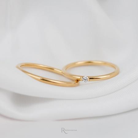 Alianças Ouro 18k 1,5mm 4g redondo Modelo Ariel - Rosê