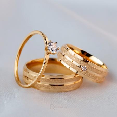 Alianças Ouro 18K 6mm 6 gramas Athenas e Cindel - Rosê