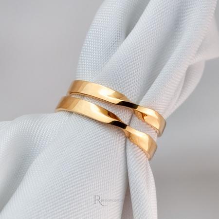Aliança Ouro 18k 3mm 5g Modelo Eternal - Rosê