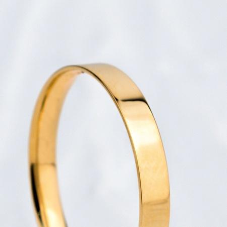 Aliança de Ouro 18k 2mm 2 gramas Reta Modelo Mônaco - Rosê