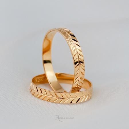 Alianças Ouro 18k 3mm 3 gramas Modelo Olimpo - Rosê