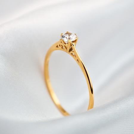 Anel Noivado Ouro 18k Modelo Passione - Rosê