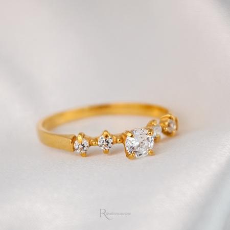Anel de Noivado Ouro 18k Modelo Queen - Rosê