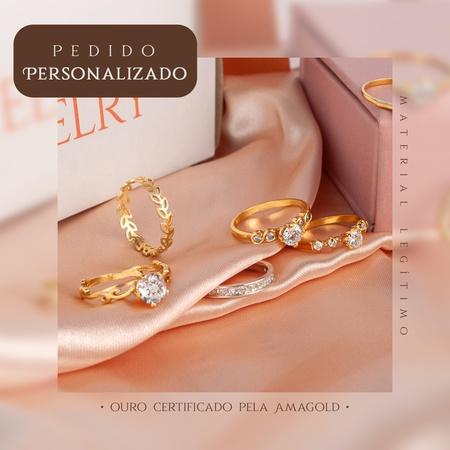 PERSONALIZADO - Libra em prata 3mm 6g - Rosê
