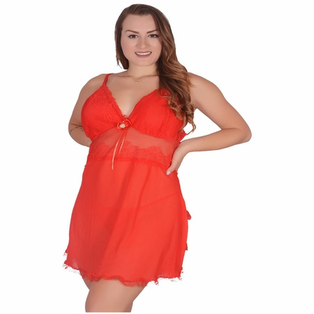 Camisola Vivi Plus Size (LK597) - Vermelho