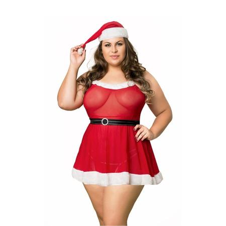 *Fantasia Plus Size Mamãe Noel (PK990) - Padrão