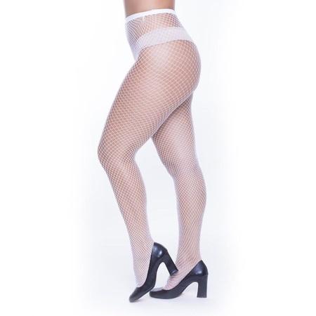Meia Calça Arrastão Perrutextil (PR003) - Branco