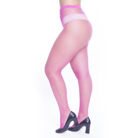 Meia Calça Arrastão Perrutextil (PR003) - Rosa