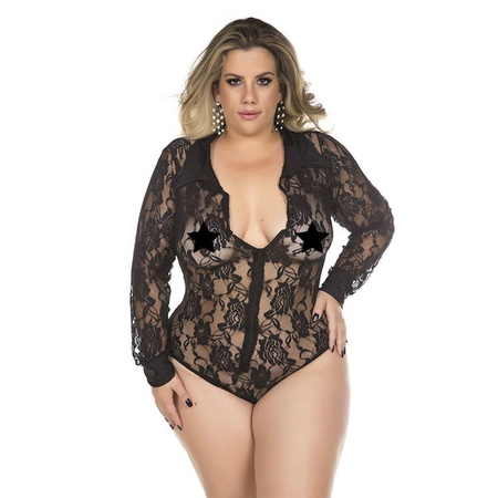 *Body Executiva Plus Size (PS2053) - Preto