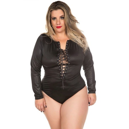 *Body Gladiadora Plus Size (PS2055) - Preto