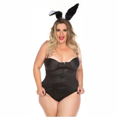 *Fantasia Coelha Playboy Plus Size (PS2069) - Padrão