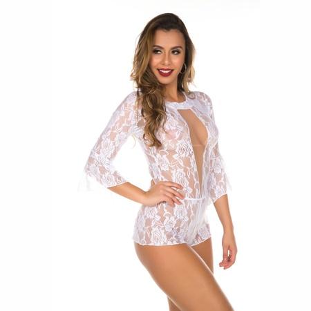 *Macaquinho Princesa (PS8349) - Branco