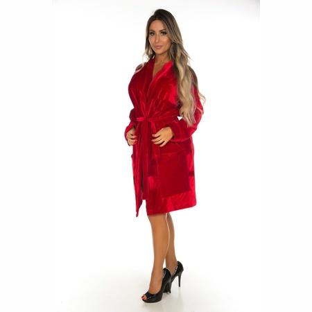 *Roupão Mãe Da Noiva (PS8354) - Vermelho