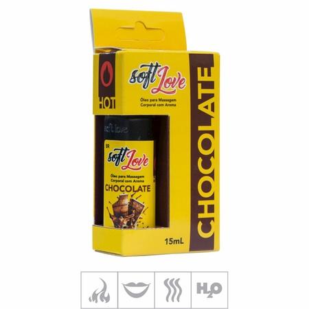 **Gel Comestível Soft Love Hot 15ml (ST114) - Chocolate