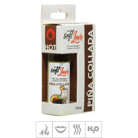 **Gel Comestível Soft Love Hot 15ml (ST114) - Piña Colada