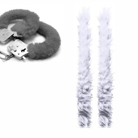 Capa Para Algema em Pelúcia (ST193) - Branco
