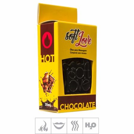 **Gel Comestível Soft Love Hot 30ml (ST116) - Chocolate