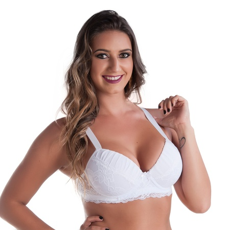 Soutien Duanip Com Bojo E Renda (DU736) - Branco