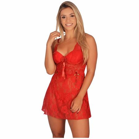 Camisola Anita (LK576) - Vermelho