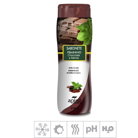 Sabonete Íntimo Apinil 210ml (ST183) - Chocolate e Menta