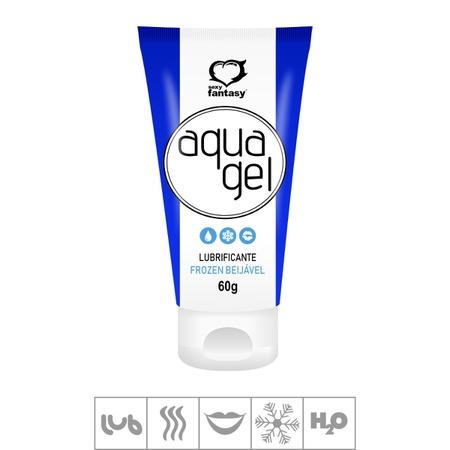 Lubrificante Beijável Aqua Gel 60g (ST585) - Frozen Menta