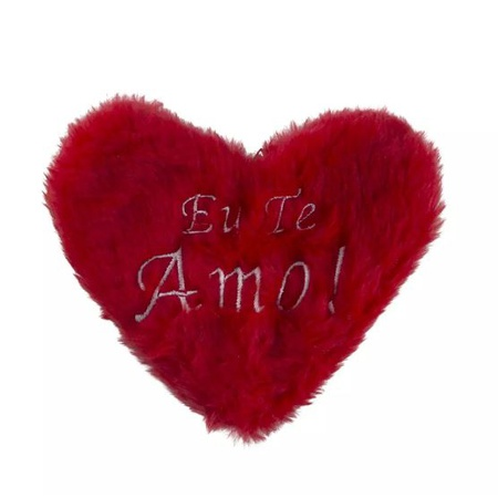 Estojo em Pelúcia Formato de Coração (CP01 - CP02) - Vermelho