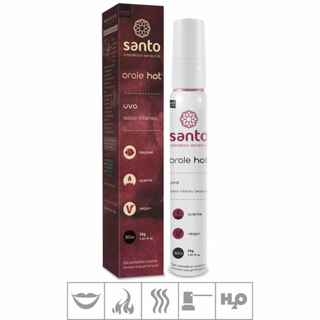 Gel Comestível Orale Hot 30ml ( ST113 ) - Uva