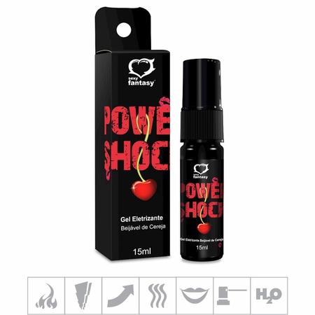 Excitante Unissex Power Shock Spray 15ml (ST171) - Cereja