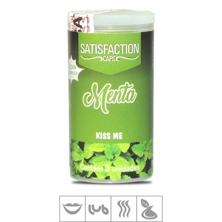 Bolinha Beijável Kiss Me Satisfaction Caps 3un (ST435) - Menta